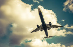 Passenger jet abstract Royalty Free Stock Images