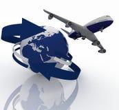 Passenger jet airplane Stock Photo