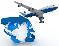 Passenger jet airplane Stock Image
