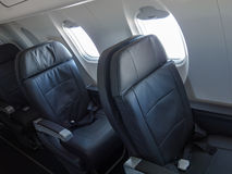 Passenger Jet Cabin Airliner Seats Royalty Free Stock Photo