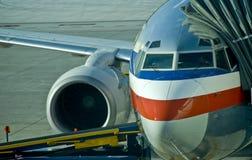 Passenger jet on ground Royalty Free Stock Photography