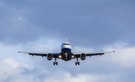 Passenger Aircraft Landing Approach Stock Photos