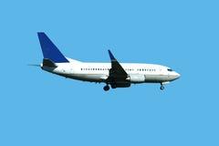 Passenger jet plane landing Stock Image