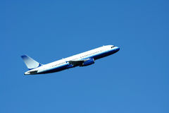 Passenger jet plane taking off Royalty Free Stock Photos