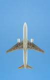 Passenger jet silhouette Stock Photos