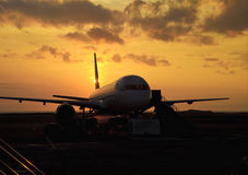 Passenger jet on the tarmac Stock Photo