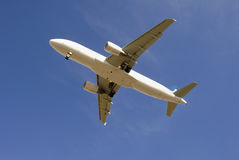 Passenger jetliner taking off Stock Image