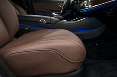 Passenger leather seat. Stock Images