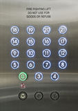 Passenger lift dial Royalty Free Stock Images