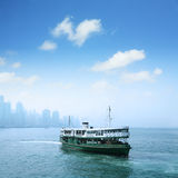 Passenger liner in hong kong Stock Images