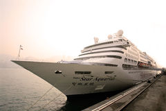 Passenger liner in hong kong Stock Photography