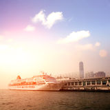Passenger liner in hong kong Stock Photo