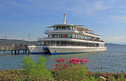 Passenger liner at lake starnberger see, bavar Royalty Free Stock Images