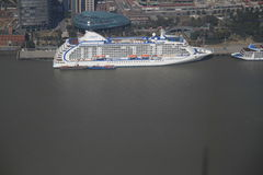 Passenger liner in Shanghai Stock Photos