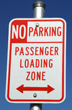 Passenger Loading Zone Sign 33 Royalty Free Stock Photo