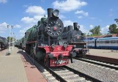 Passenger locomotive Su 214-10 Stock Photo