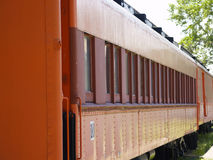 Passenger Perspective. External perspective view of a museum passenger train car Stock Image