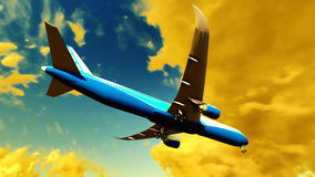 Passenger plane Stock Photos