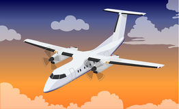 Passenger plane royalty free illustration