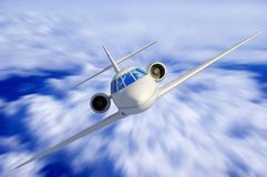 A passenger plane Stock Photography