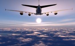 A passenger plane Royalty Free Stock Photos