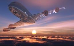 A passenger plane Royalty Free Stock Image