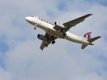 Passenger plane Airbus A320-232 Qatar Airways Stock Images