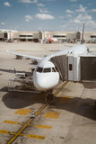 Passenger plane in the airport. Royalty Free Stock Photography