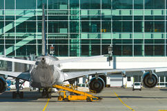 Passenger plane in the airport. Stock Photography