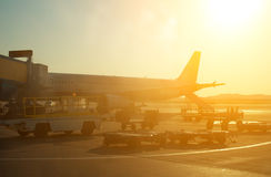 Passenger plane. Royalty Free Stock Photo