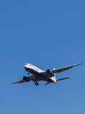Passenger plane Boeing 777 Stock Image