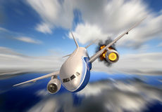 Passenger plane Stock Photos