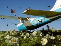 A passenger plane Stock Photo