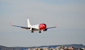 Passenger Plane On Final Aproach Stock Images