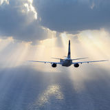 Passenger plane. Royalty Free Stock Photos