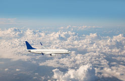 Passenger plane fly Royalty Free Stock Images