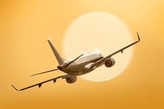 Passenger plane fly Stock Photos