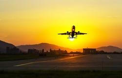 Passenger plane fly up Stock Image