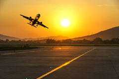 Passenger plane fly up Royalty Free Stock Image
