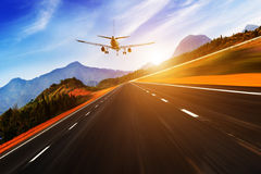 Passenger plane fly up Stock Images