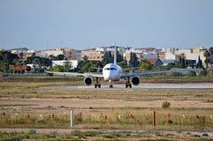 Passenger Plane Head On Royalty Free Stock Photos