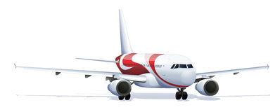 Passenger plane. Illustration of a passenger plane Royalty Free Stock Image