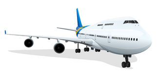 Passenger plane. Illustration of a passenger plane Royalty Free Stock Photo