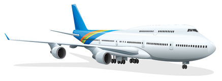 Passenger plane Stock Photo