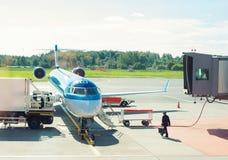 Passenger plane maintenance. Stock Photography