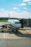 Passenger plane maintenance. Royalty Free Stock Photo