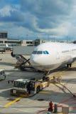 Passenger plane maintenance. Royalty Free Stock Photos