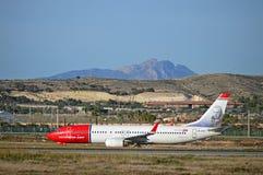 Passenger Plane Norwegian Airlines Royalty Free Stock Images