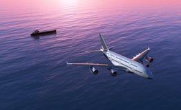 A passenger plane Stock Image