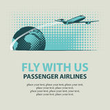 Passenger plane and planet Earth Royalty Free Stock Photos